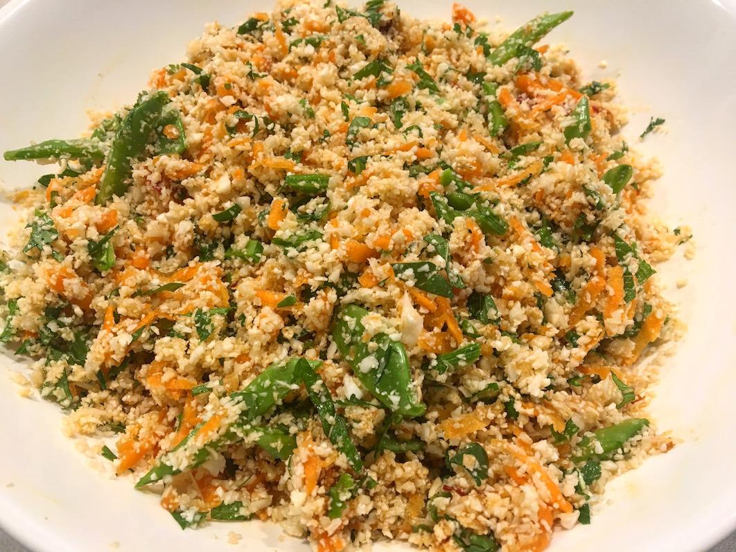 Asian Rice Salad low carb