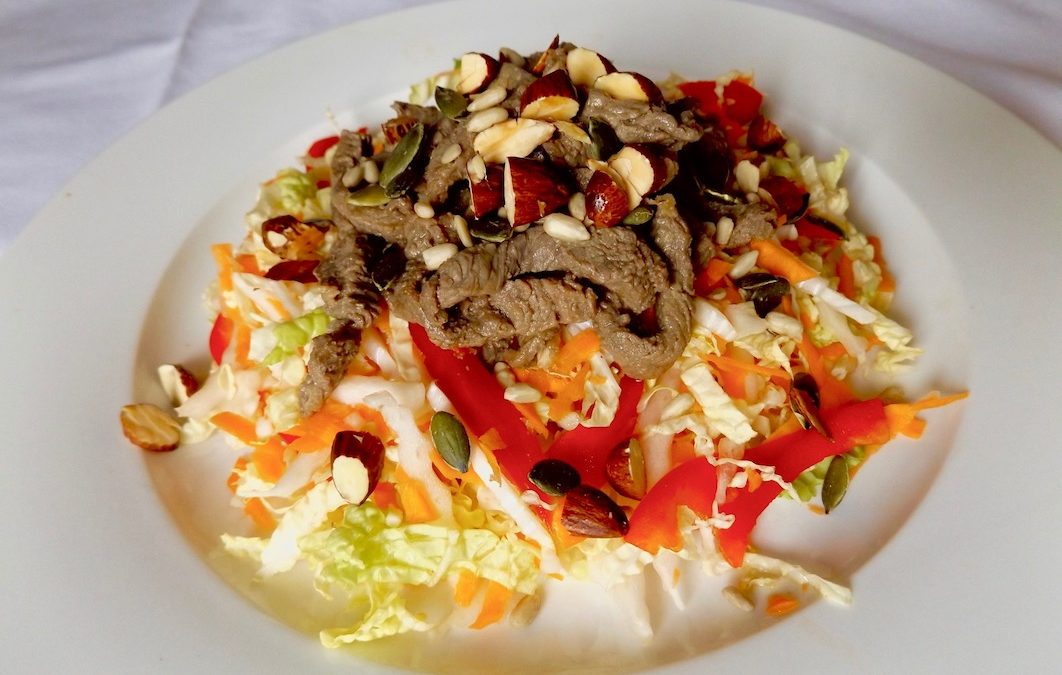 Asian Slaw with Beef