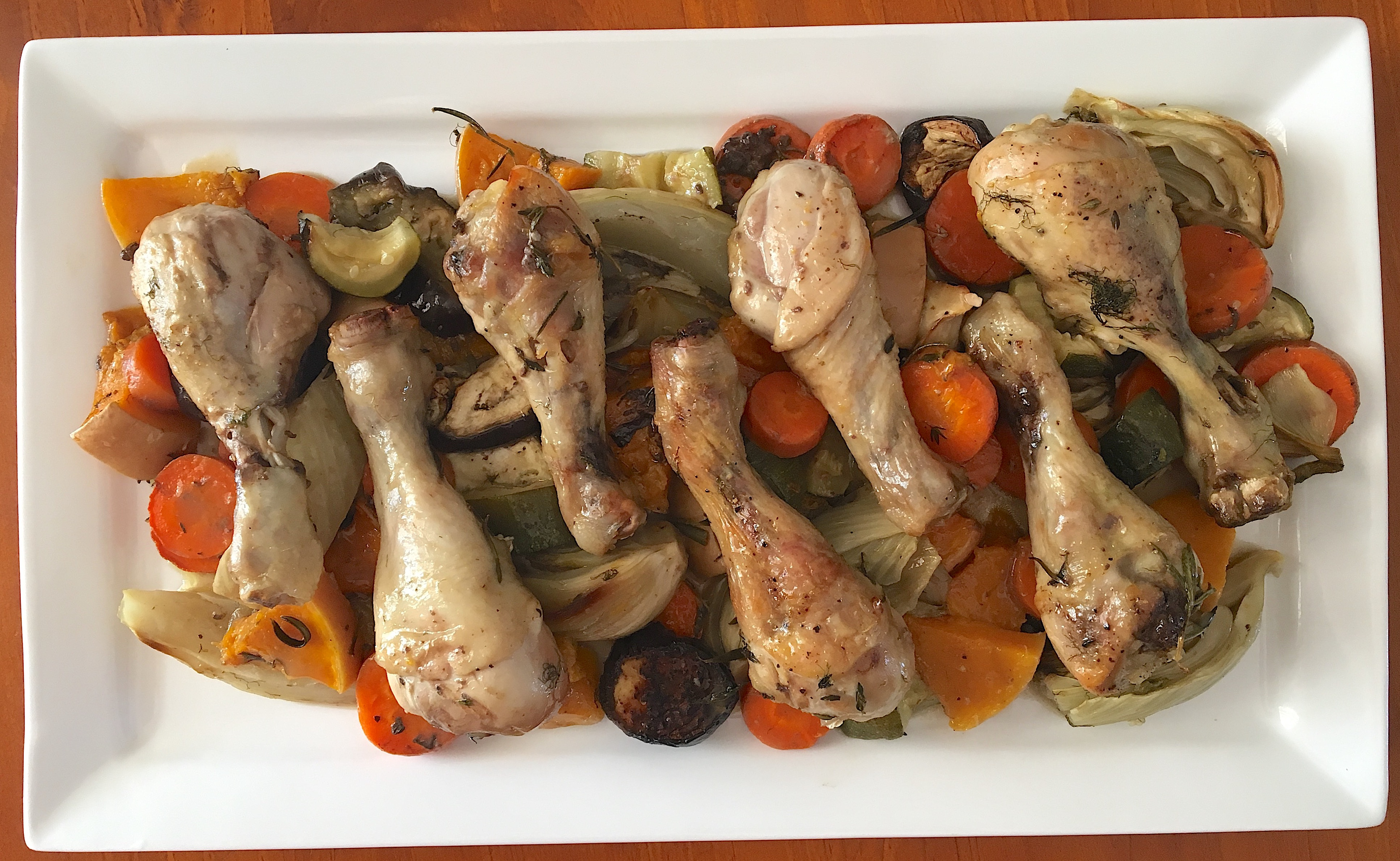 Chicken Fennel Roasted Vegetables