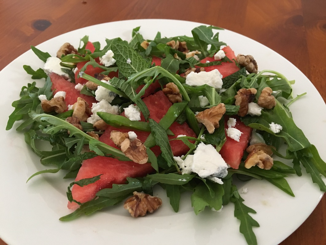 Watermelon, Rocket and Mint Salad