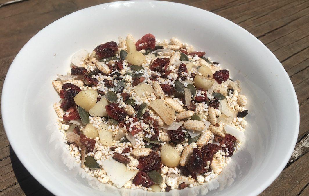 Macadamia and Cranberry Gluten Free Muesli