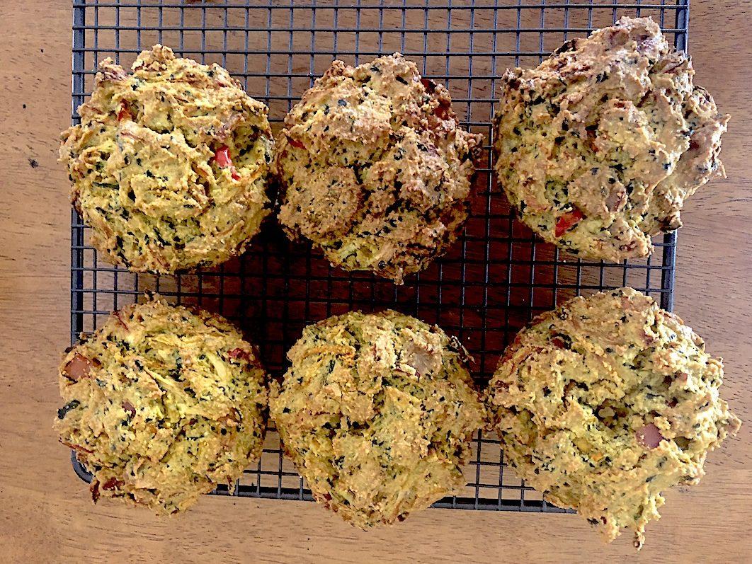 Breakfast Muffins on rack