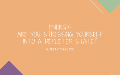 Are you stressing yourself into a depleted state?