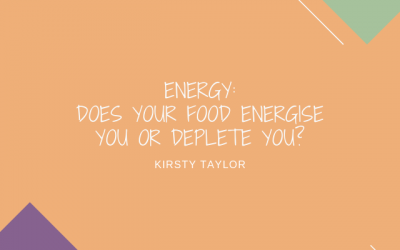 Does your food energise you or deplete you?