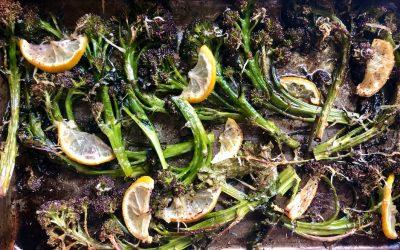 Roasted Broccolini with Lemon + Parmesan
