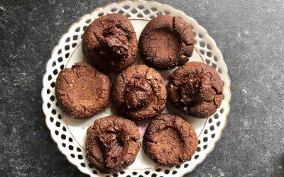 Choc Almond Cookies