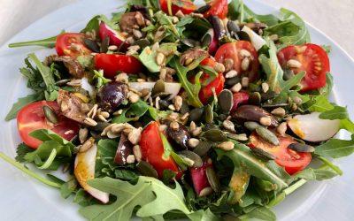 Tomato Radish + Olive Salad
