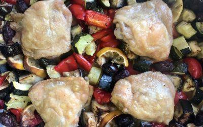 Mediterranean Lemon + Olive Chicken