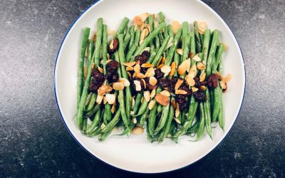 Green Beans with Cranberries + Almonds