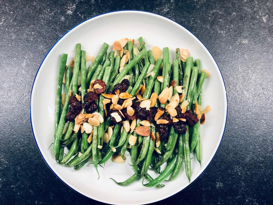 Green Beans Cranberries Almonds