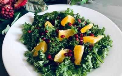 Citrus, Pomegranate + Kale Salad