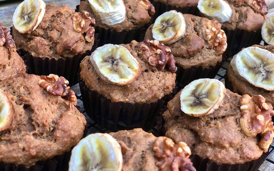 Banana, Walnut + Coffee Muffins